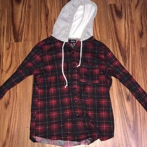 Plaid Hooded Long Sleeve from Macy's